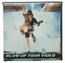 AC/DC - 'Blow Up Your Video' Square Badge